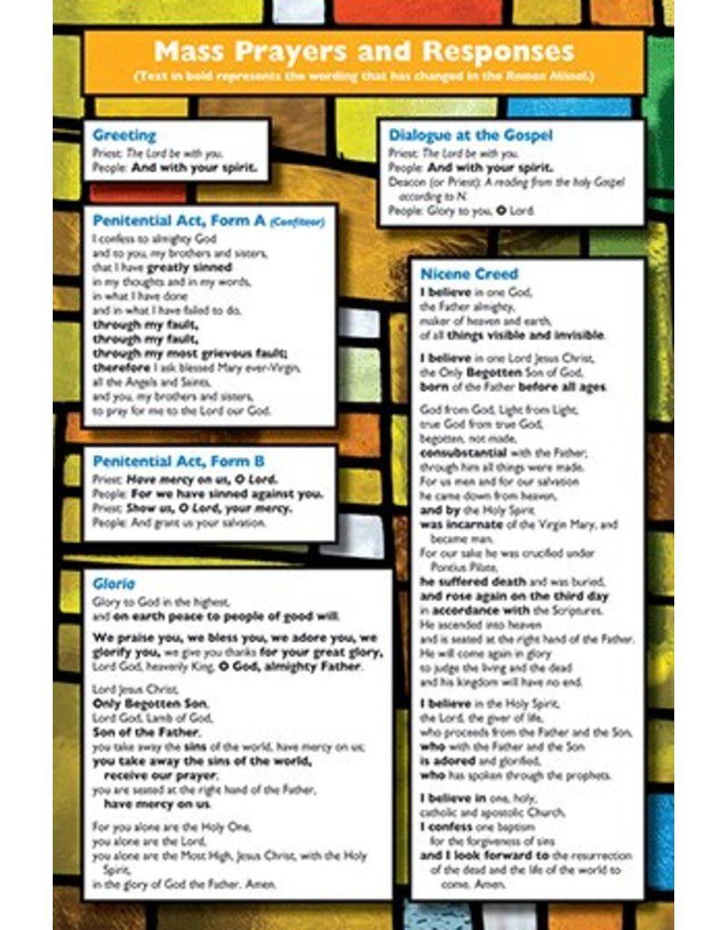 Our Sunday Visitor Pew Card: Revised Order of the Mass (Pack of 50)