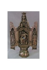 """Goldscheider of Vienna 11"""" Our Lady of Sorrows Bronze Triptych from the Veronese Collection"""