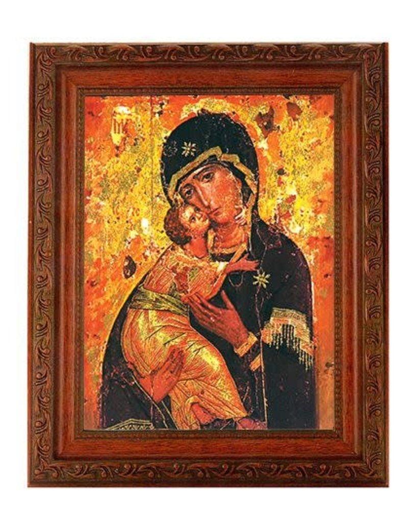 WJ Hirten Our Lady of Vladimir (Mahogany Finished Frame)