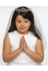 Roman, Inc Hannah First Communion Veil with Rhinestone Tiara