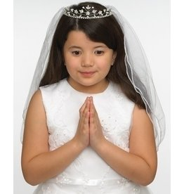 Roman, Inc Hannah First Communion Veil with Rhinestone Tiara