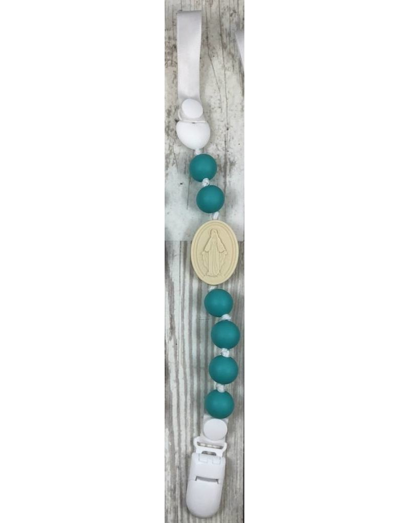 Chews Life Miraculous Medal Pacifier Clip