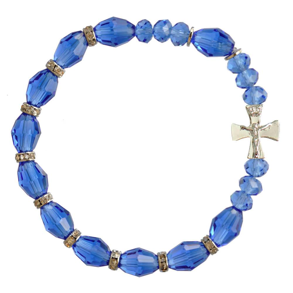 Sine Cera Blue Crystal Rosary Bracelet