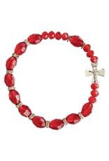 Sine Cera Red Crystal Rosary Bracelet
