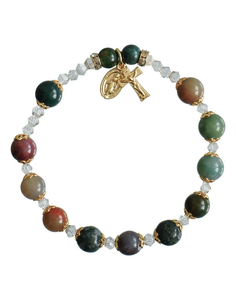 Sine Cera Multicolor Onyx Rosary Bracelet (8mm)