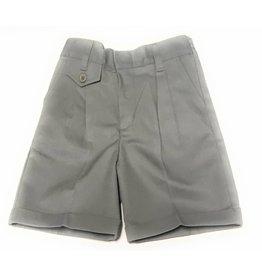 Elderwear Elderwear 4026LG Girls Grey Pleated Front School Uniform Shorts, Size 6x, Traditional Fit
