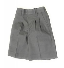 Elderwear Elderwear 1286JS Grey Pleated School Uniform Shorts, Size 6, Slim