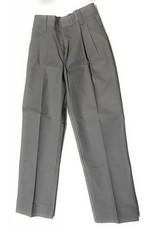 Elderwear Elderwear 1268JR Grey Pleated School Uniform Long Pants, Size 7 Waist 23, Traditional Fit