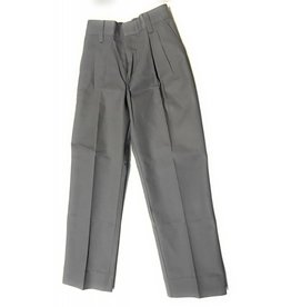 Elderwear Elderwear 1268JR Grey Pleated School Uniform Long Pants, Size 7 Waist 23, Traditional Fit