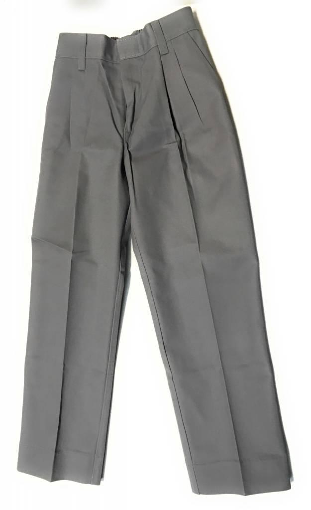 Elderwear Elderwear 1268JR Grey Pleated School Uniform Shorts, Size 7 Waist 23, Traditional Fit