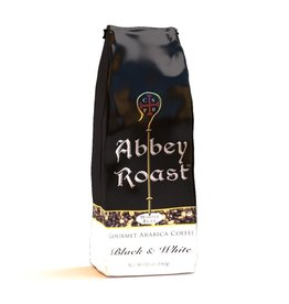 Abbey Roast Abbey Roast Coffee Black and White 12 oz (ground)