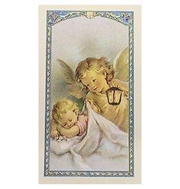 WJ Hirten Now I Lay Me Down To Sleep - Guardian Angel - Prayer Card