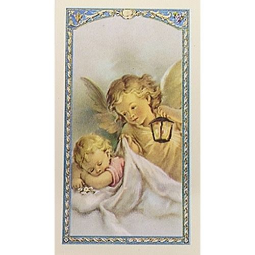 Now I Lay Me Down To Sleep Guardian Angel Prayer Card Queen Of