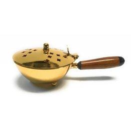 MDS Brass Incense Burner Wooden Handle