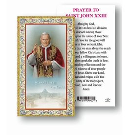 WJ Hirten Paper Holy Card - Prayer to St. Pope John XXIII