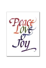 The Printery House Peace Love & Joy: General Congratulations Greeting Card