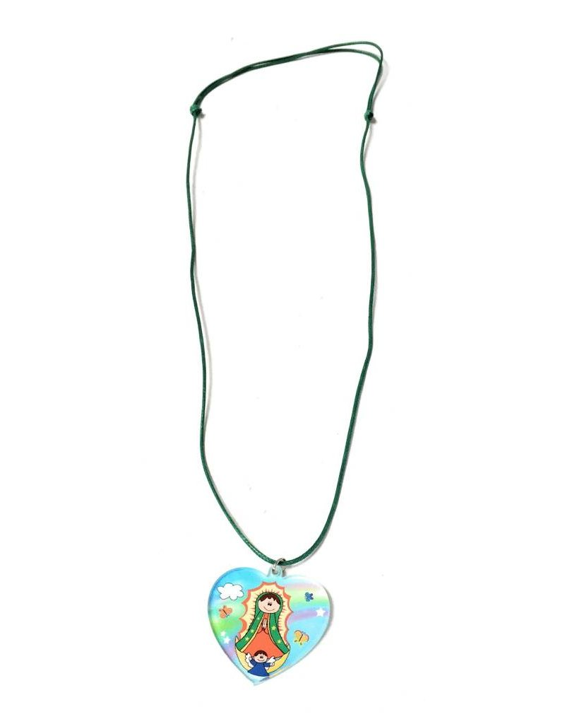 Moshy Brothers, Inc Heart Pendant - Our Lady of Guadalupe