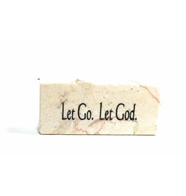 Holy Land Stone Let Go. Let God. - Promise Stone