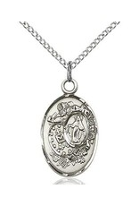 """Bliss Manufacturing Sterling Silver Miraculous Medal With 18"""" Chain Necklace"""