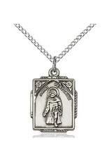 "Bliss Manufacturing Sterling Silver St. Peregrine Medal-Pendant With 18"" Chain"