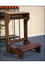Robert Smith Padded Kneeler - Walnut Stained