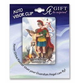 Cathedral Art St. Florian Full Color Visor Clip