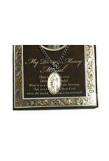 WJ Hirten Pewter Divine Mercy Medal with Prayer Card