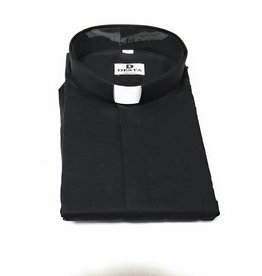 Desta Ampia Clergy Breathable Cotton Long Sleeve Black Size 18 1/2