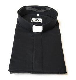 Desta Ampia Clergy Breathable Cotton Short Sleeve Black Size 18