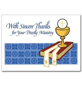 The Printery House With Sincere Thanks for Your Priestly Ministry Priest Appreciation Card