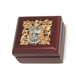 WJ Hirten Wooden Confirmation Keepsake Box with Pewter Holy Spirit Inlay