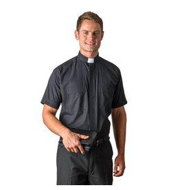 MDS 4000 Black Cottonrich Short Sleeve Tab Shirt