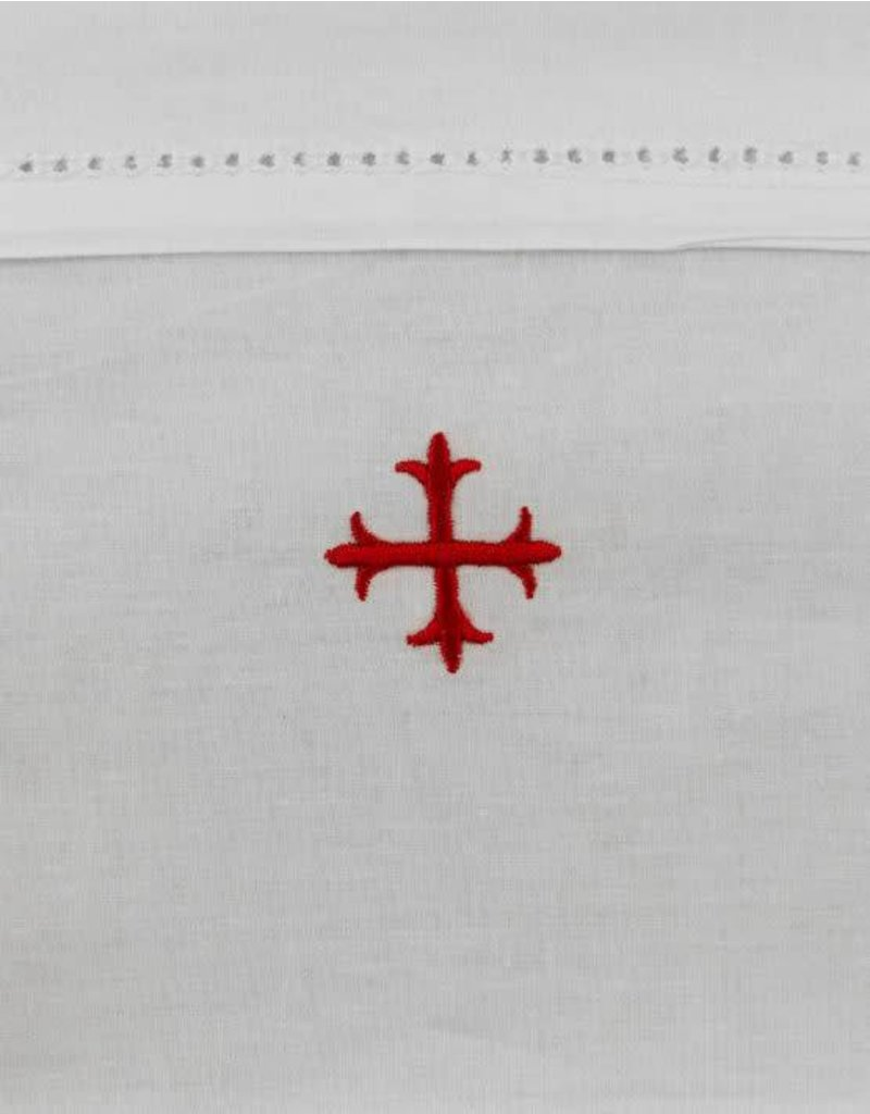 "MDS 100% Cotton Amice with Ties with Red Cross 20"" x 40"""