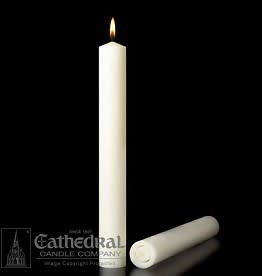"""Cathedral Candle Co. 1 1/2"""" x 12"""" 51% Beeswax Candle (All Purpose End, Single Candle)"""