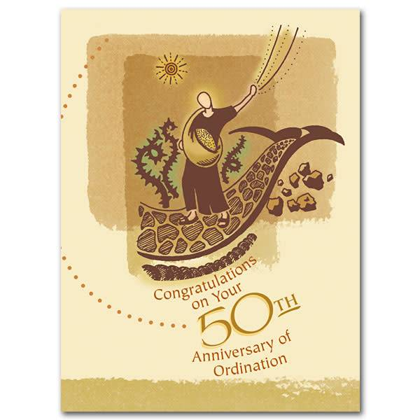 The Printery House Congratulations on Your 50th Anniversary of Ordination Card