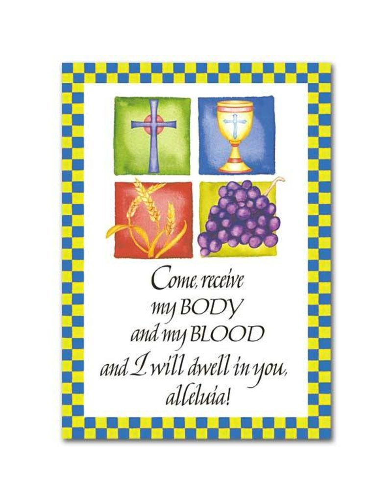 The Printery House Come Receive My Body and My Blood First Communion Card