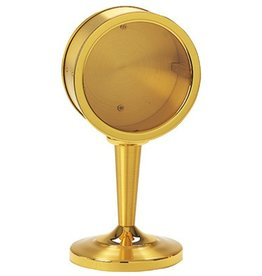 "Koleys Inc. 7 1/2"" Tall, 3"" Two Tone Gold Plated Reliquary"