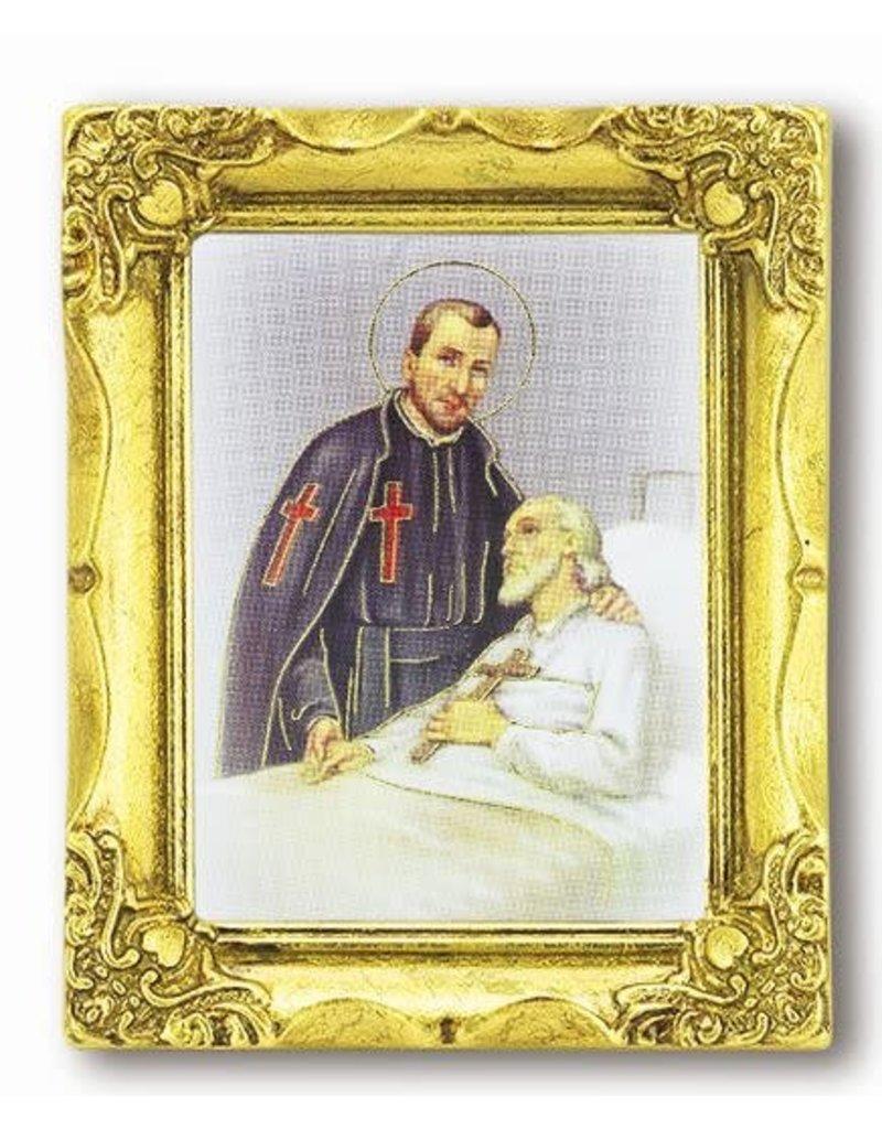 "WJ Hirten 3"" x 2"" Framed St. Camillus"