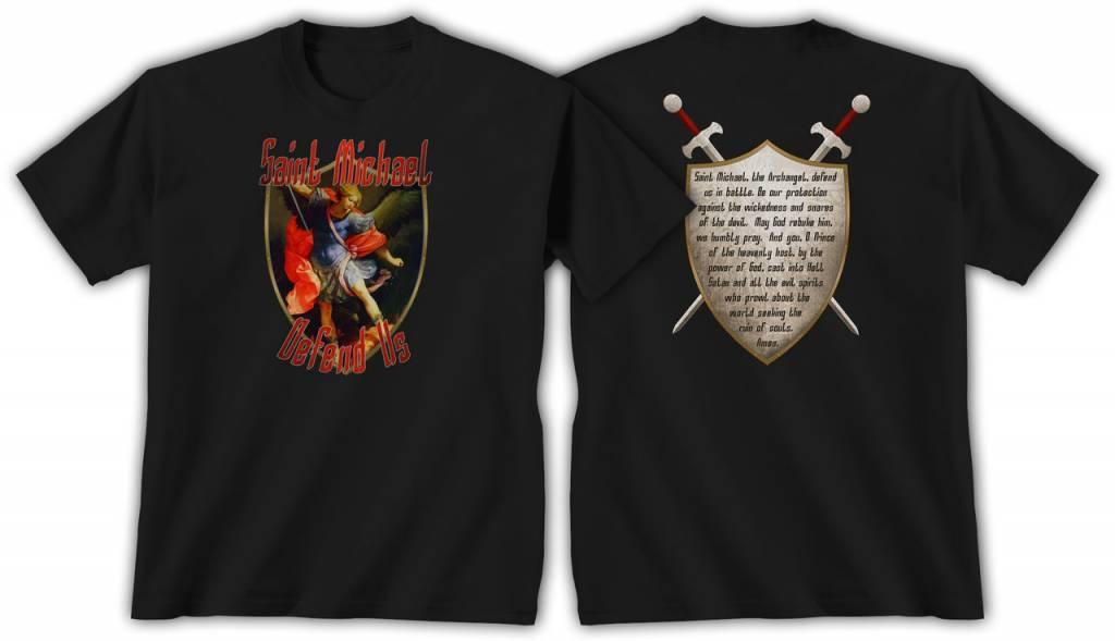 QOA Catholic T-Shirt Saint Michael Mens XXL