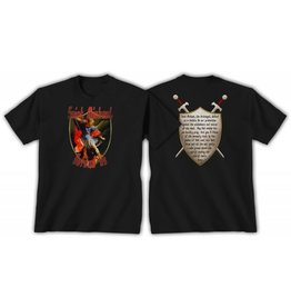 QOA Catholic T-Shirt Saint Michael Mens L