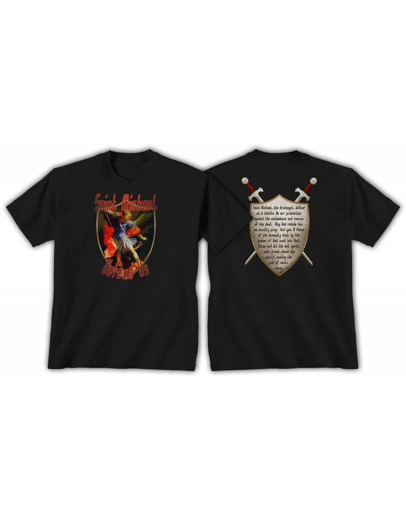 QOA Catholic T-Shirt Saint Michael Mens S
