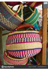 Handmade African Basket (Assorted Colors and Styles)