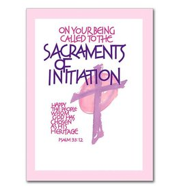 The Printery House Congratulations As You Receive The Sacraments of Initiation RCIA Card