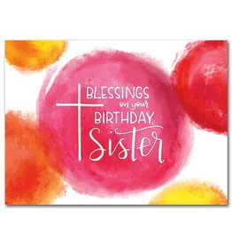 The Printery House Blessings on Your Birthday Sister Greeting Card