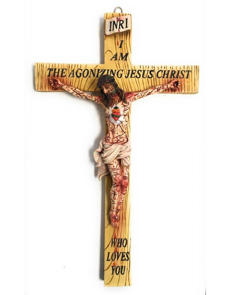 "Fiat Imports 17"" ""I Am The Agonizing Jesus Christ Who Loves You"" Crucifix"