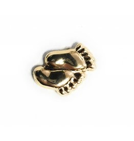 Wallace Brothers Manufacturing Baby Feet Lapel Pin