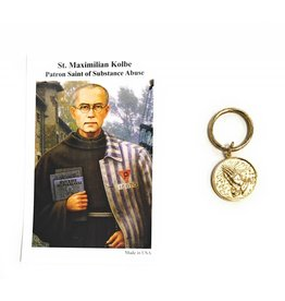 Wallace Brothers Manufacturing St. Maximillian Kolbe Serenity Prayer Key Chain