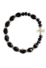 Sine Cera Black Crystal Rosary Bracelet