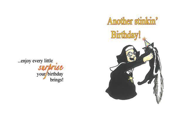 Life Greetings Bless my soul! Nuns Birthday Card