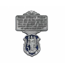 McVan Police Officer Blue Enamel Prayer Visor Clip